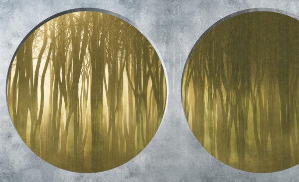 Disegno completo della carta da parati 134B Shadow forest