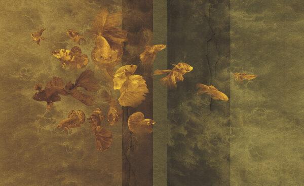 Complete visual of wallpaper 144 Golden fish