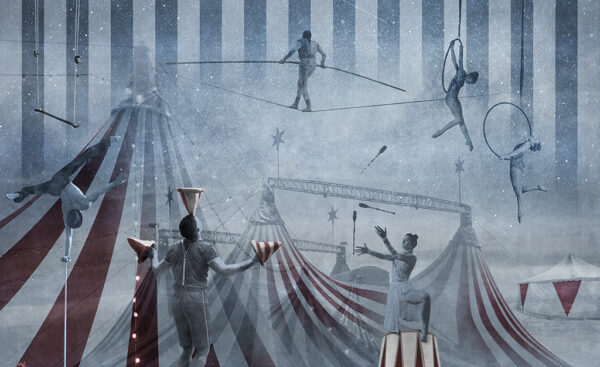 Complete visual of wallpaper 148A Circus