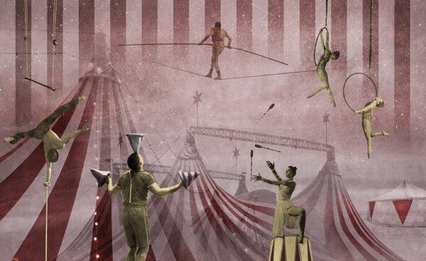 Complete visual of wallpaper 148B Circus
