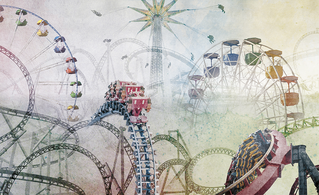 Complete visual of wallpaper 150 Roller coaster