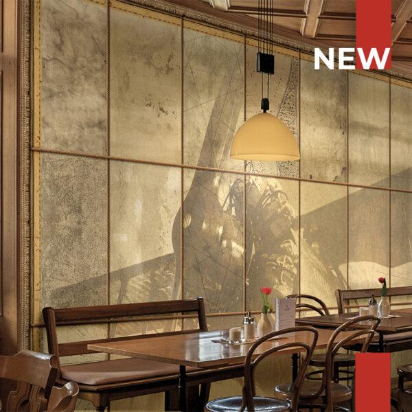The wallpaper 141 Travelling mind embellish a restaurant's dining room