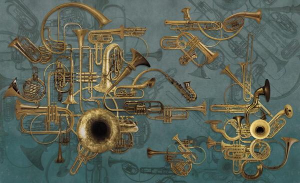 Complete visual of wallpaper 149B Ottoni Machine