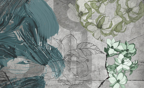 Complete visual of wallpaper 755 Blue Grunge