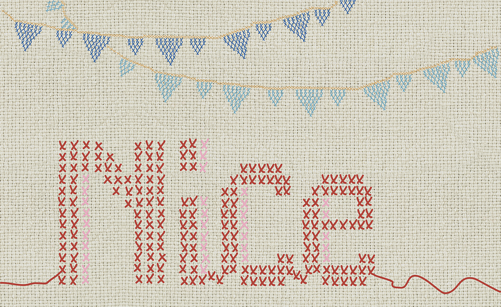 Complete visual of wallpaper 766 Cross stitch letters